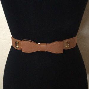 Accessories - Brown bow belt
